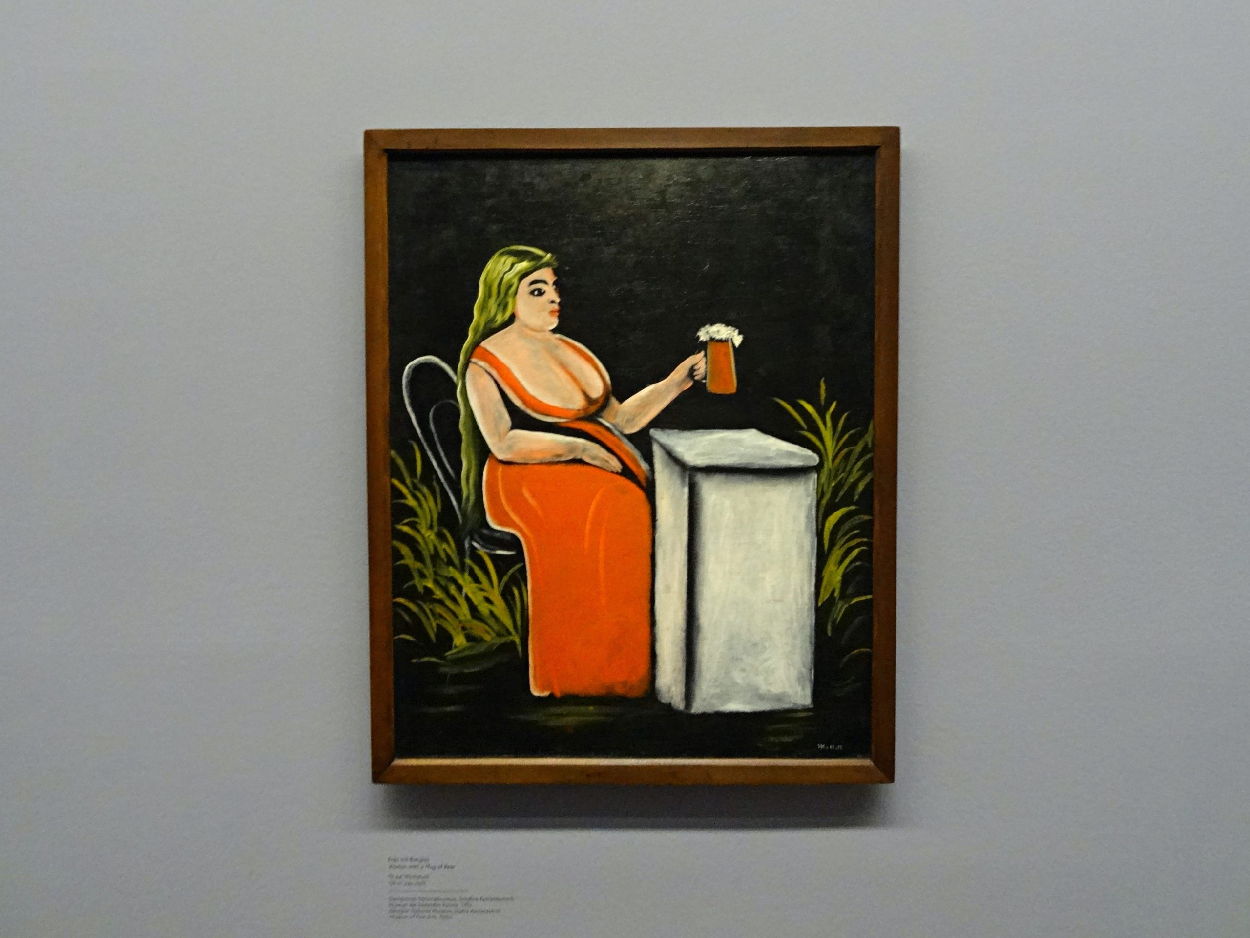 Tino Schlench - Literaturpalast - Niko Pirosmani - Frau mit einem Becher von Bier